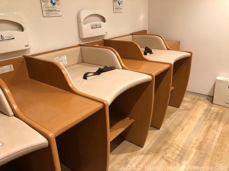 東京スカイツリータウン・ソラマチ3Fの授乳室はフードコートの横!利用者も多い!でも狭い。。。