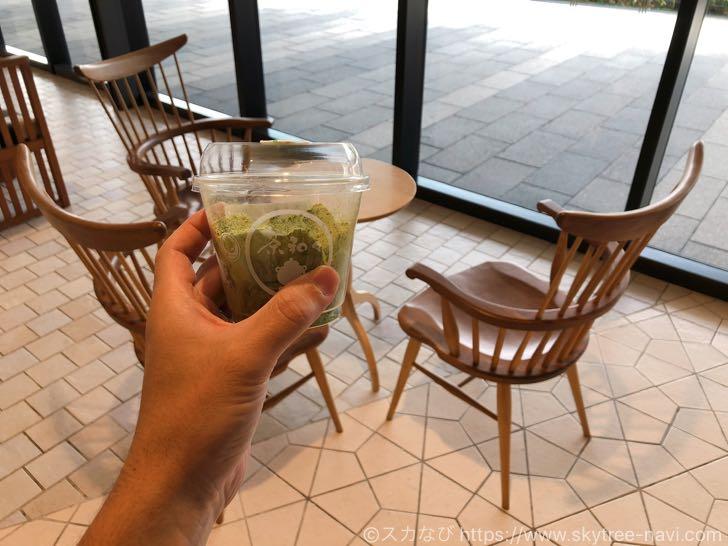 ソラマチ・茶和々の抹茶わらび餅はぷるぷる感と濃ゆい抹茶パウダーのコラボで美味しい