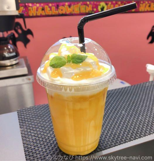ソラマチ「アマラデリ」のマンゴーホイップラッシーはマンゴーの甘みたっぷりで美味!