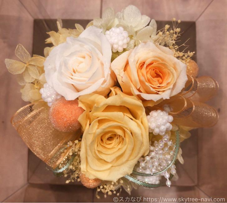 ソラマチの花屋ならここ!「フラワーデコ」はブーケやプリザーブドフラワーがメッチャいい!