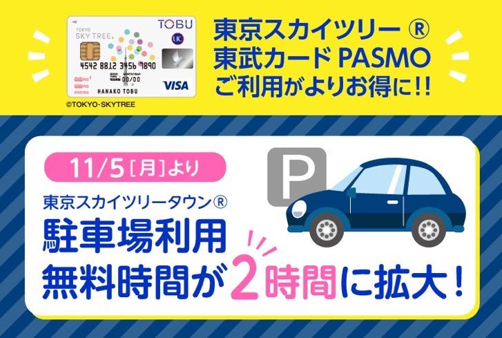 東武カードPASMOの駐車場優待