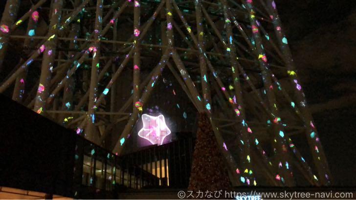 スカイツリー ソラマチ クリスマス2018 プロジェクションマッピング
