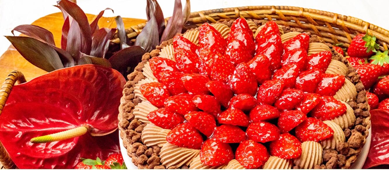 キルフェボン イチゴとチョコレートムースのタルト