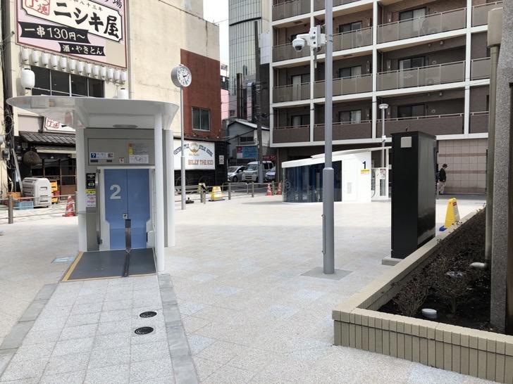 錦糸町南口の新しい駐輪場