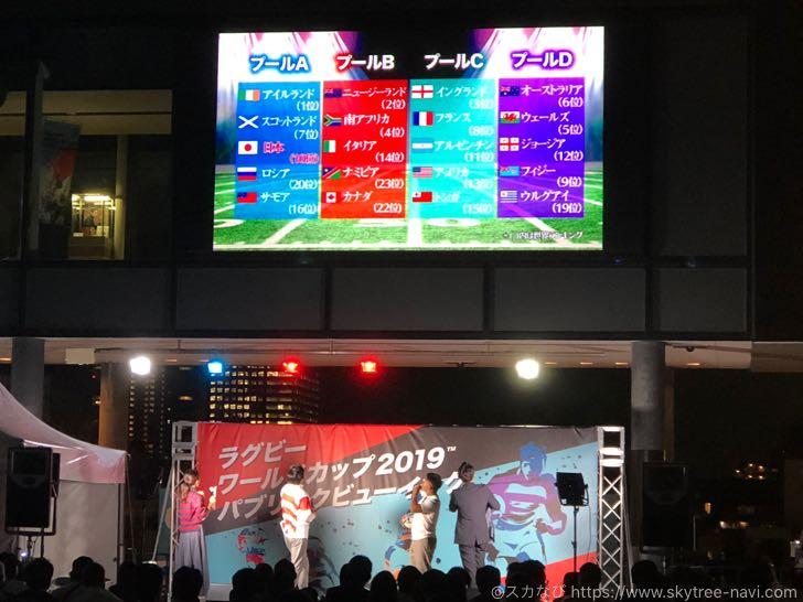 ラグビーワールドカップ2019 パブリックビューイング