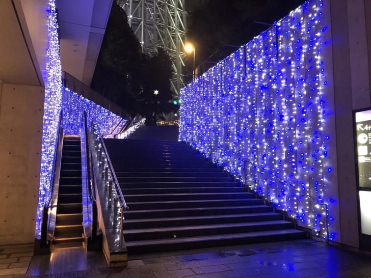 東京スカイツリータウン・ソラマチのクリスマスイルミネーション