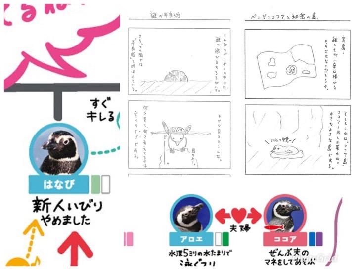 ペンギン飼育スタッフの4コマ漫画