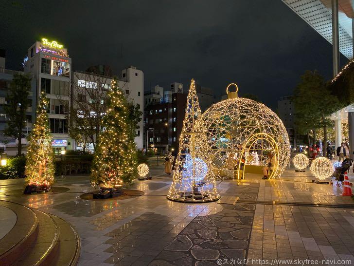 スカイツリー・ソラマチ クリスマスイルミネーション2019
