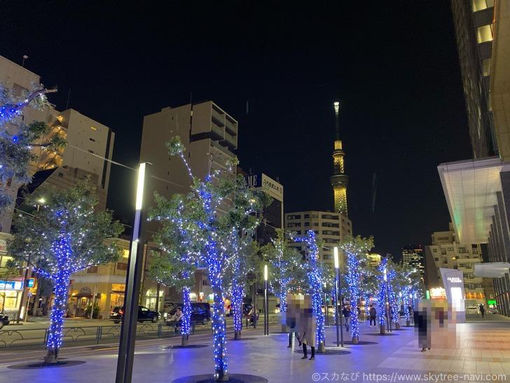 オリナスのクリスマスイルミネーション