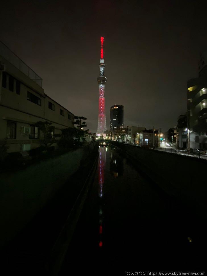東京スカイツリーと鬼滅の刃のコラボライティング