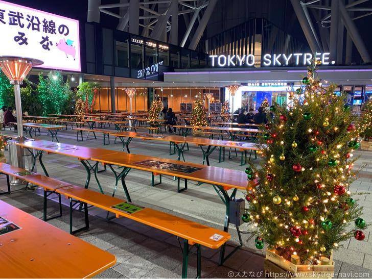 東京スカイツリータウンのクリスマスイルミネーション 2020